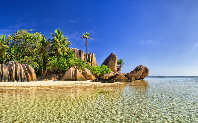 La Digue beach at Seychelles
